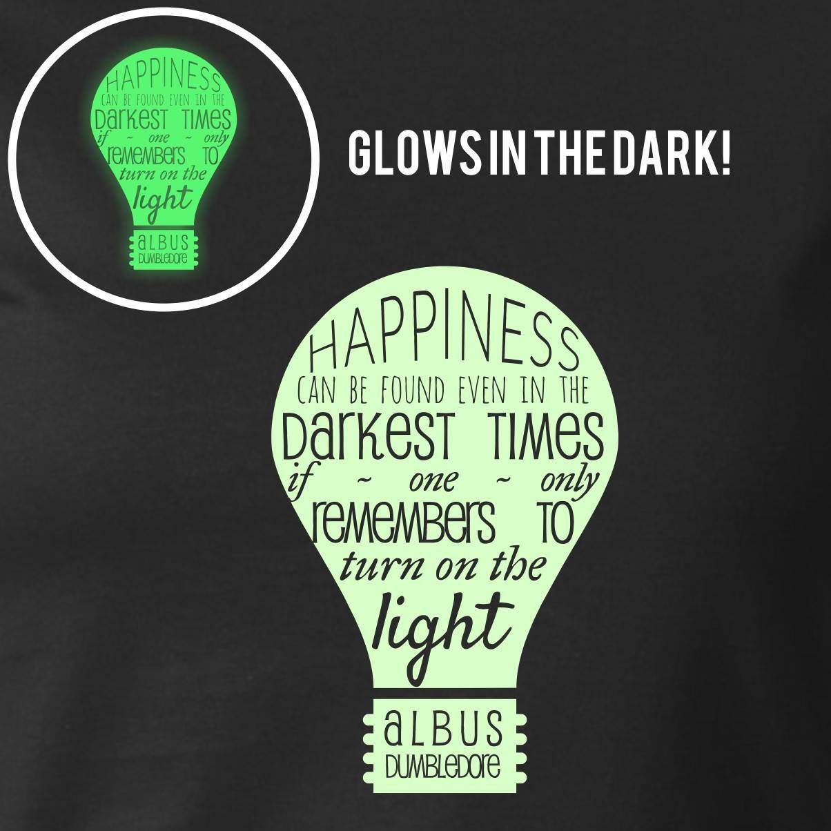 HAPPINESS GLOW IN THE DARK