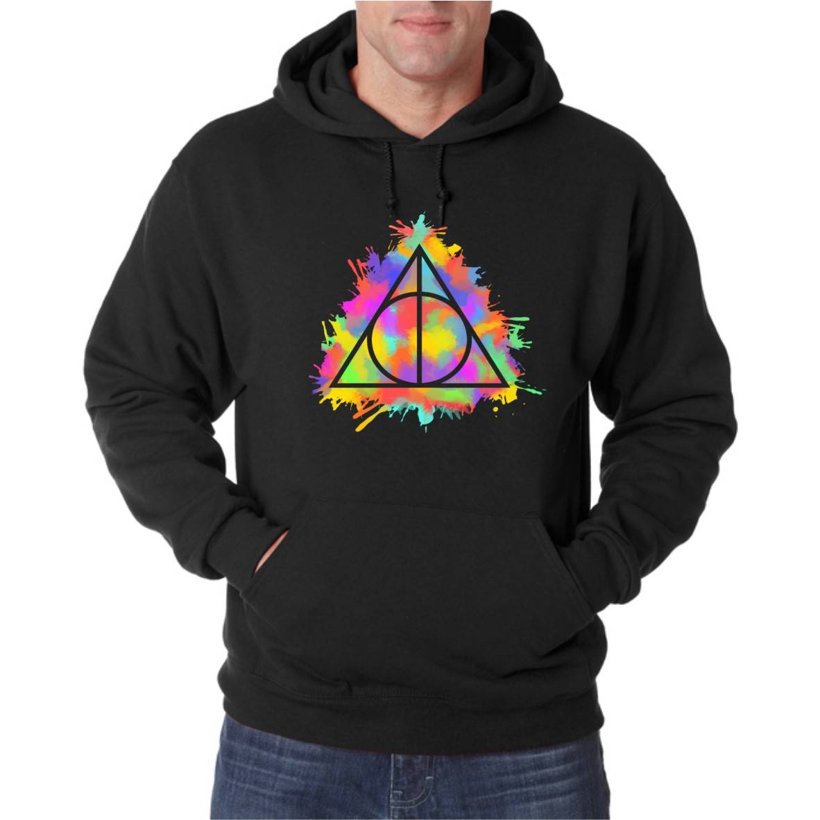 DEATHLY COLOURS UNISEX HOODED