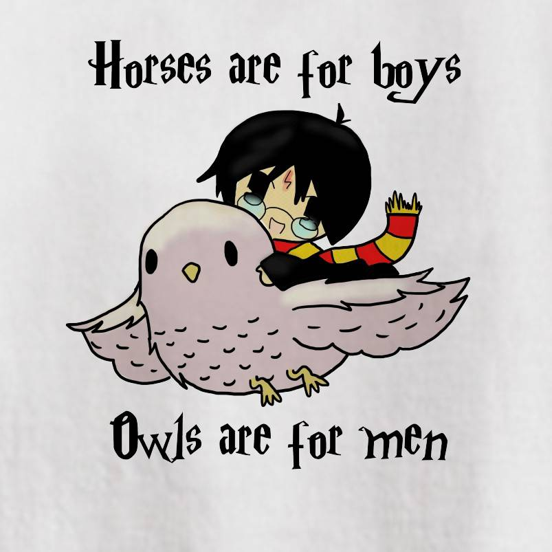 HORSES ARE FOR BOYS OWLS ARE FOR MEN