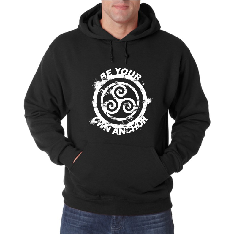 BE YOU OWN ANCHOR UNISEX HOODED