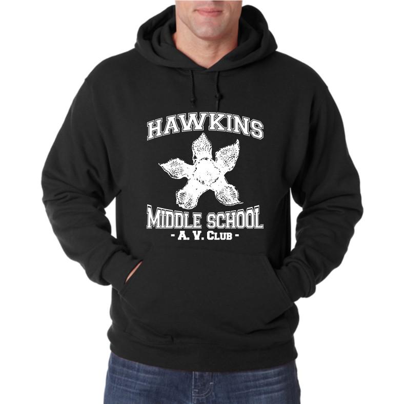 HAWKINS MIDDLE SCHOOL UNISEX HOODED