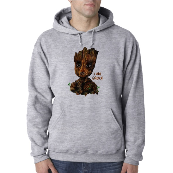 I AM GROOT UNISEX HOODED
