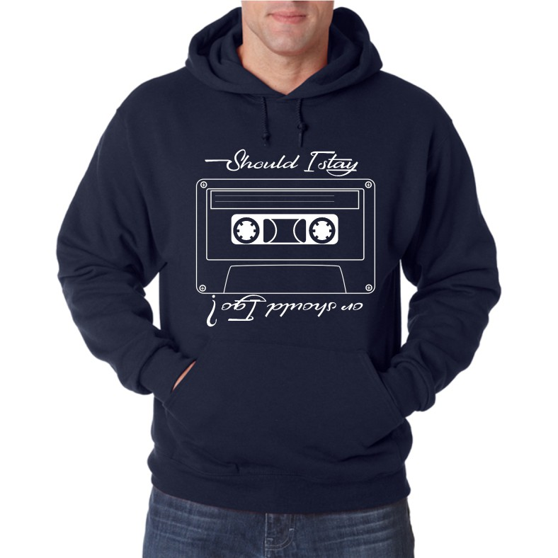 SHOULD I STAY OR SHOULD I GO UNISEX HOODED