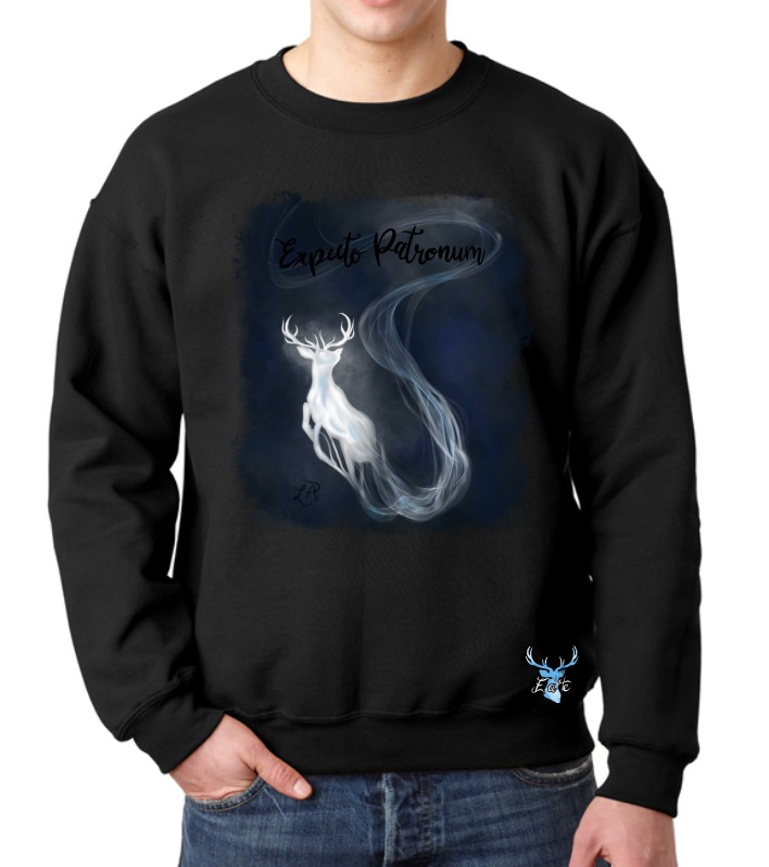EXPECTO PATRONUM BLU FLEECE